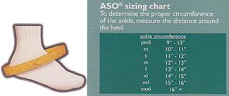 ASO sizing chart
