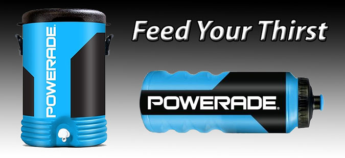 Powerade Waterbottle, Powerade Cooler